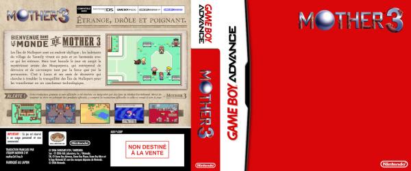 Concept de boîte de jeu pour Mother 3 en français