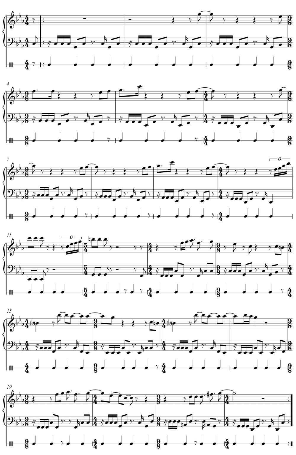 Partition de Backbeat de bataille – difficile